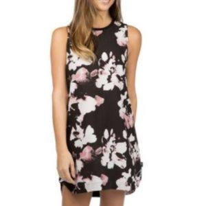 NWT RVCA Black Floral Sleeveless Summer Dress L